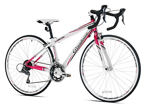 Giordano Women's Libero 1.6 Road Bike Small White/Pink [並行輸入品] B078HM23NJ