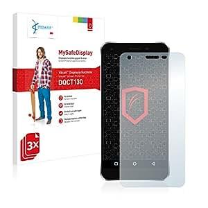 3x Vikuiti MySafeDisplay Protector de Pantalla DQCT130 de 3M para Elephone S1