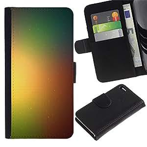 KLONGSHOP // Tirón de la caja Cartera de cuero con ranuras para tarjetas - Las tonalidades de color - Apple Iphone 4 / 4S //
