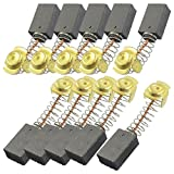 Uxcell Power Tools Motor Parts Carbon Brushes, 17 x 11 x 7 mm, 10 Piece