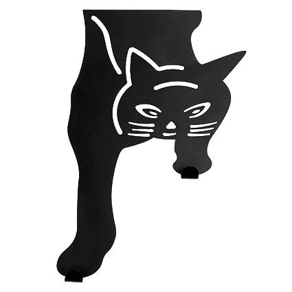 Gancho para colgar sobre la puerta, diseño de gato negro Un regalo ...