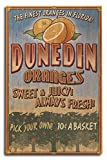 Dunedin, Florida - Orange Grove - Vintage Sign (10x15 Wood Wall Sign, Wall Decor Ready to Hang)