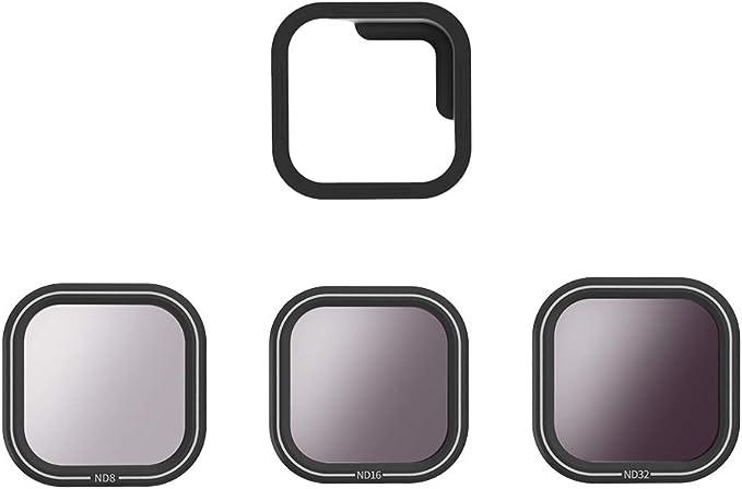 CPL /à densit/é neutre pour GoPro Hero 7 Black Hero 2018 Hero 6 Hero 5 Noir Accessoires dobjectif GoPro TELESIN Lot de 4 filtres dobjectif GoPro ND4 ND16 ND 4//8//16 CPL ND8