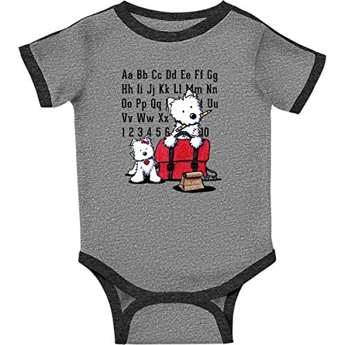inktastic Teachers Pet Infant Creeper Newborn Ringer Heather and Smoke - KiniArt