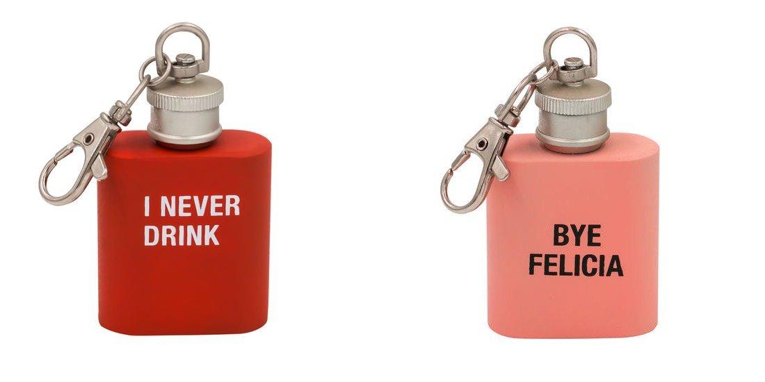 【史上最も激安】 I Never Never I Drink」と「Bye Drink」と「Bye Felicia キーリングフラスコセット B077GMPS1Q, とうりんパレット:f05eb56a --- a0267596.xsph.ru