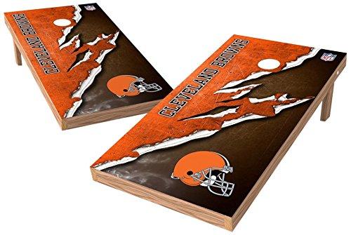 PROLINE NFL Cleveland Browns 2'x4' Cornhole Board Set - Ripped Design