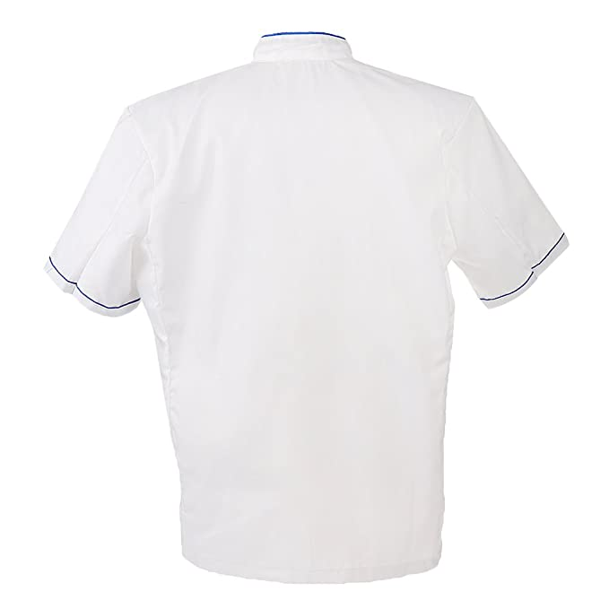 Amazon.com: MonkeyJack Men New Fashion Women Chef Uniform Single Breasted Cook Short Sleeve Coat: Clothing
