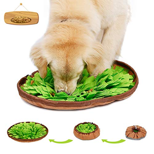 Emarth Snuffle Mat for Dogs, Pet Dog Nose Work Training Treat Puzzle Toys, Interactive Slow Feeding Mat, Encourages Natural Foraging Skills for Dogs