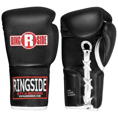 (Ringside Professional Fight Gloves (Black, 8-Ounce))