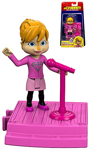 Alvin & The Chipmunks Groovin Brittany 3' Chipettes Action Figure With Click & Connect Stage Piece 'IN STOCK'