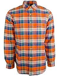 Polo Ralph Lauren Men\u0026#39;s Standard-Fit Plaid Oxford Sport Shirt