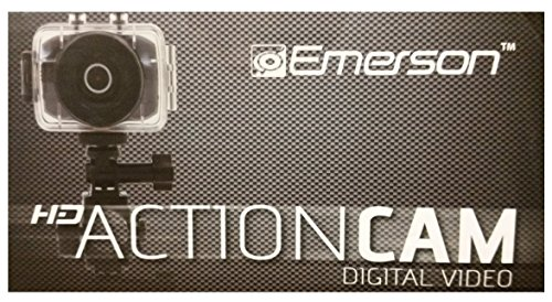 Emerson EVC355DG Black HD Sports Action Video Camera Kit With Waterproof Case