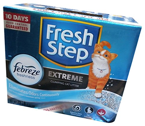 R 261347 Fresh Step Extreme Odor Solution Scoop Litter Boxes for Cats, 20-Pound ()