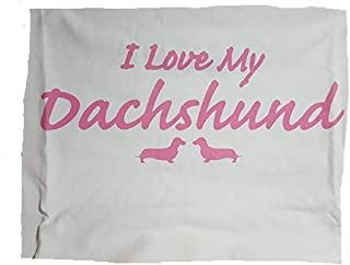 product image for I Love My Dachshund Night Shirt White and Pink