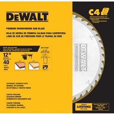 DEWALT DW71240F 12-Inch X 40T X 20 Degree FTG Glue Line Rip Full Kerf