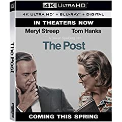 Oscar Nominated Best Motion Picture THE POST on Digital April 3 and 4K, Blu-ray, DVD April 17 from Fox