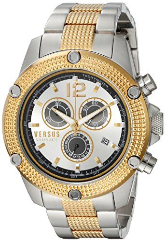 Versus-by-Versace-Mens-AVENTURA-Quartz-Stainless-Steel-Casual-Watch-ColorTwo-Tone-Model-SOC120015
