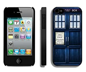 Tardis Doctor Who Black Fantastic Recommended Customized iPhone 4S Phone Case