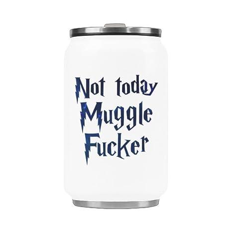 Amazon.com: No Hoy Muggle Fucker taza de viaje de acero ...