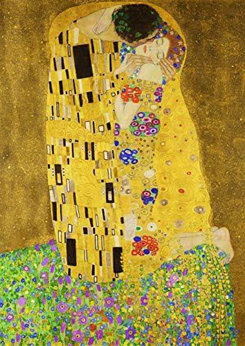 ポスター クリムト 『接吻(キス)』 A4サイズ 【返金保証有 日本製 上質】 [インテリア 壁紙用] 絵画 アート 壁紙ポスター (A4サイズ)