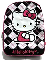 Hello Kitty Girls 2-6X Plaid Kitty Backpack