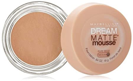 Maybelline Dream Matte Mousse Foundation, Pure Beige, 0.64 oz Pack of 3