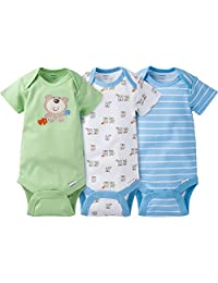 Gerber Baby Boy's 3-Pack Short Sleeve Bodysuit