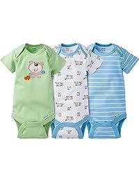 Gerber Baby Boy's 3-Pack Short Sleeve Bodysuit