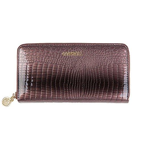 comme à main gris soir cuir de RUI YY women's long portefeuille en sacs zBYS6X