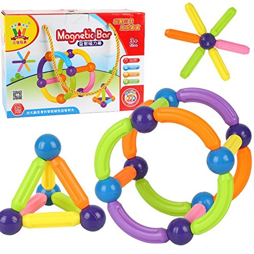 OOFAY Magnetic Building Sticks Building Blocks Juniors 32 Piece Construction Set Construction Stacking Educational Toys by OOFAY (Image #7)