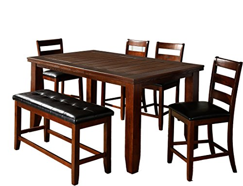 Butterfly Pub Table (Milton Greens Stars Alicante Butterfly Leaf Pub Table, 64-Inch by 42-Inch by 36-Inch, Dark Brown)