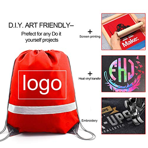 Reflective Drawstring Backpack Bags 20 Pack