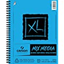 Canson XL Series Mix Media Paper Pad, Heavyweight, Fine Texture, Heavy Sizing for Wet and Dry Media, Side Wire Bound, 98 Pound, 7 x 10 Inch, 60 Sheets