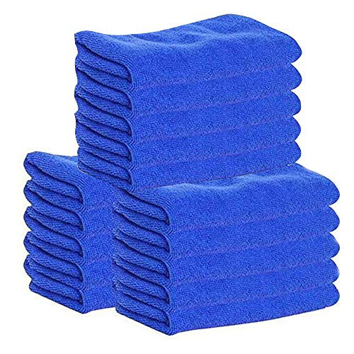 Pausseo 15Pcs/Set Car Cleaning Towel Ultra Soft Microfiber Polish Cloths Auto Wash Dry Professional Kitchen House Super Absorbent Car Windows Tools High Quality House-Hold Wash Premium Towel - 25x25cm -
