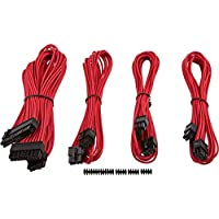 Corsair CP-8920145 Premium PSU Cable Kit, Individually Sleeved Cables, Starter Package, Red