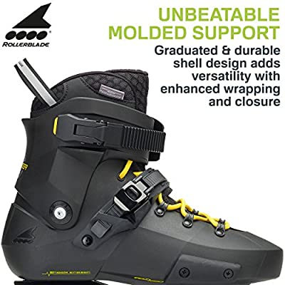Rollerblade Twister Edge Men's Adult Fitness Inline Skate, Black and Yellow, High Performance Inline Skates
