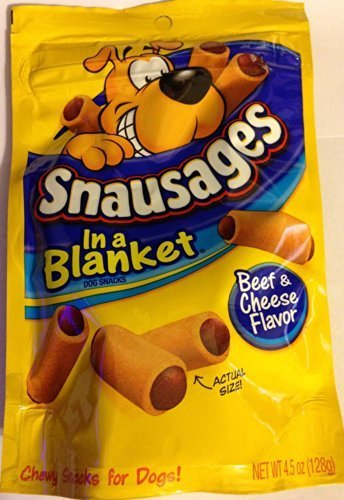 Snausages in a Blanket Dog Snacks Beef & Cheese Flavor