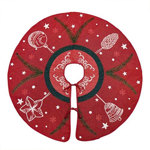 Primode Red Xmas Tree Skirt 50