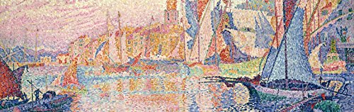 Paul Signac Poster Adhesive Photo Wall-Print - The Port of Saint-Tropez, 1901-1902, 1 Part (94 x 30 inches)