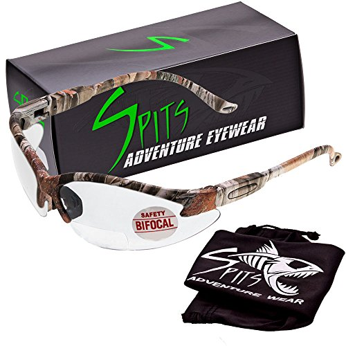 Spits Cougar BIFOCAL Safety Glasses - Forest Camo - 1.50 Mag
