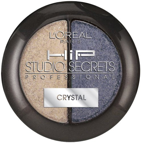 L'Orea Paris HiP Studio Secrets Professional Crystal Eye Shadow Duos, Charming, 0.08 Ounces