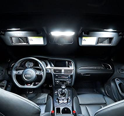 20/unidades Xenon blanco Canbus No Error Aviso doled Q5//_ 8R /_ 20/LED 4014/SMD Iluminaci/ón Interior Set