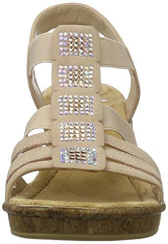 Rieker 69761, Sandalias con Cuña para Mujer Multicolor (Altrosa / 31)