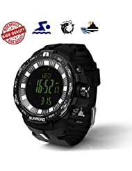 [New] Sunroad Multi-function Fishing Climbing Sports Outdoor Digital Watch Swiss Sensor Fishing Index Altimeter...