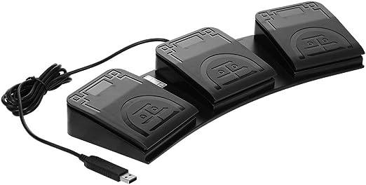 Negaor FS2020U1 USBフットスイッチコントロールキーカスタマイズされたコンピューターキーボードアクションペダル機器機器コンピューターオフィス
