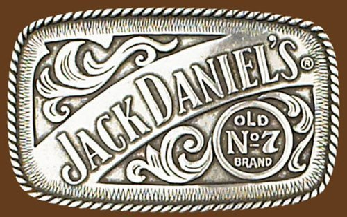 Jack Daniels Buckle - Western Express Jack Daniels Old No. 7 Belt Buckle Size: 4-1/4