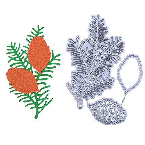(SODIAL New Leaves Pinecone Cutting Dies Stencil for DIY Scrapbooking Photo Album Paper Cards Decorative Crafts Embossing Die Cuts)