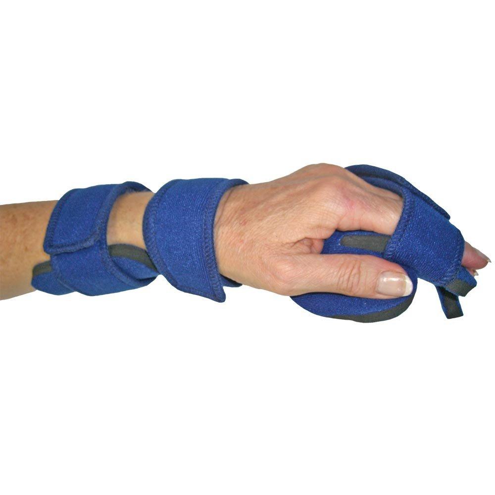 Comfyprene Separate Finger Hand, Pediatric Large Left, Dark Blue, Neoprene