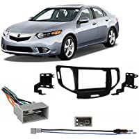 Fits Acura TSX 09-14 w/o NAV Double DIN Stereo Harness Radio Install Dash Kit