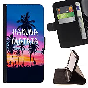 Super Marley Shop - Funda de piel cubierta de la carpeta Foilo con cierre magn¨¦tico FOR Samsung Galaxy S5 Mini SG870a, SM-G800- Hawaii Palm Trees Beach